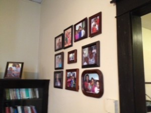 I loved that they have family photos on the wall of families that have come through the Dorothy Day House.