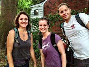Adriene, Megan, and Clayton with Urban Bicycle Food Ministry
