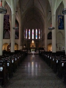 The interior of St. Mary's Episcopal Cathedral.
