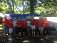Volunteers with Catholic Charities Mobile Food Pantry