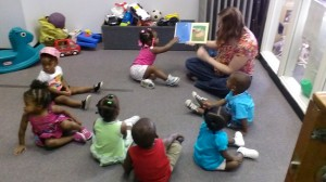 Story time at Porter-Leath Early Head Start