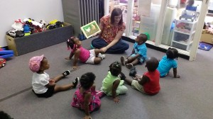 The children at Early Head Start love being read to