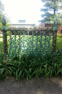 Iron Wrought Corn Stalk Fence