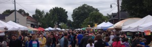 BIG crowd at the Cooper Young Festival.