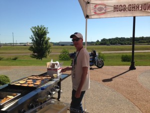 My turn to work the griddle