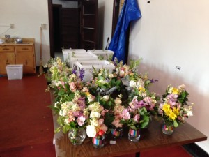 Original bouquets, prior to disassembly