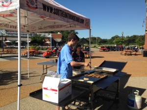 Rob manning the griddle