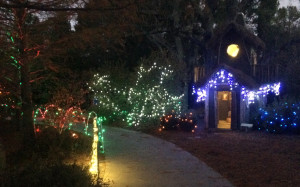 Playground Lane with a festive makeover
