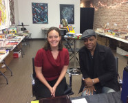 Behind the register with Antonio Edwards